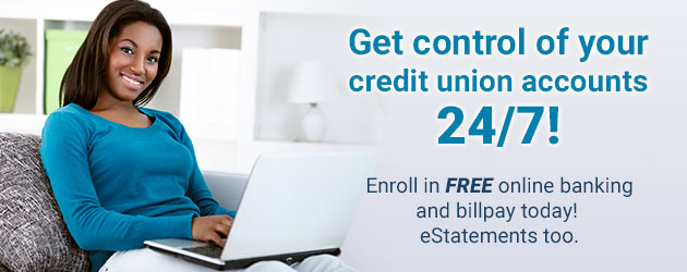 Get control of your credit union account with online banking