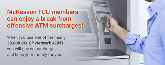Enjoy a break from ATM surcharges